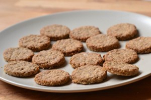 cooked sardine oatcake dog treats