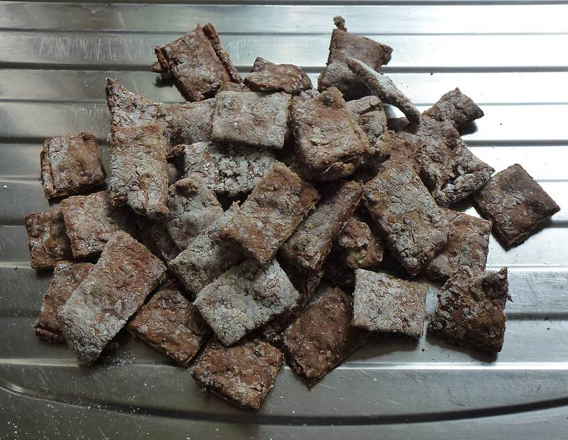 cooked homemade dog biscuits
